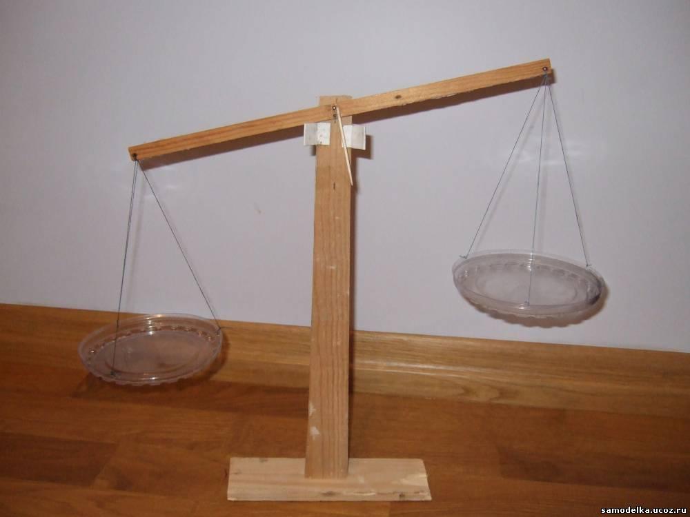 Модель весов своими руками